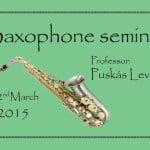 Saxophone seminar